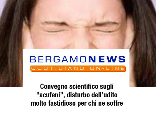 """Sabato 1° ottobre alle 8.30 all'auditorium San Sisto di Colognola a Bergamo si terrà un convegno scientifico sugli """"acufeni"""", disturbo dell'udito molto fastidioso per chi ne soffre"""